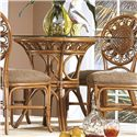Capris Furniture 321 Collection Wicker Rattan Kitchen Table - Item Number: TB321