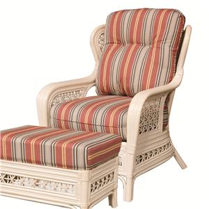 Capris Furniture 341 Collection Exposed Rattan Chair