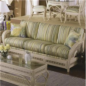 Capris Furniture 341 Collection Wicker Sofa