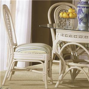 Capris Furniture 341 Collection Wicker Rattan Dining Side Chair