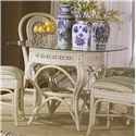 Capris Furniture 341 Collection Wicker Rattan Kitchen Table - Item Number: TB341