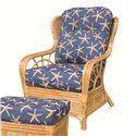 Capris Furniture 381 Collection Wicker Rattan Upholstered Chair - Item Number: OC381