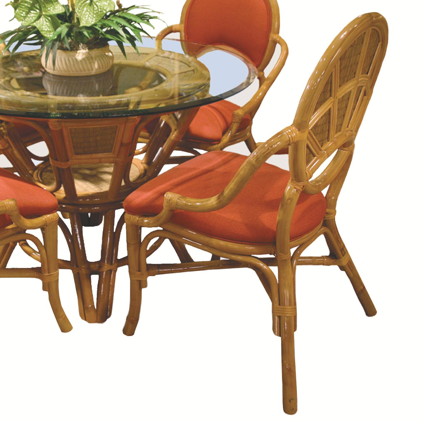 381 Collection Wicker Rattan Dining Arm Chair by Capris Furniture at Esprit Decor Home Furnishings