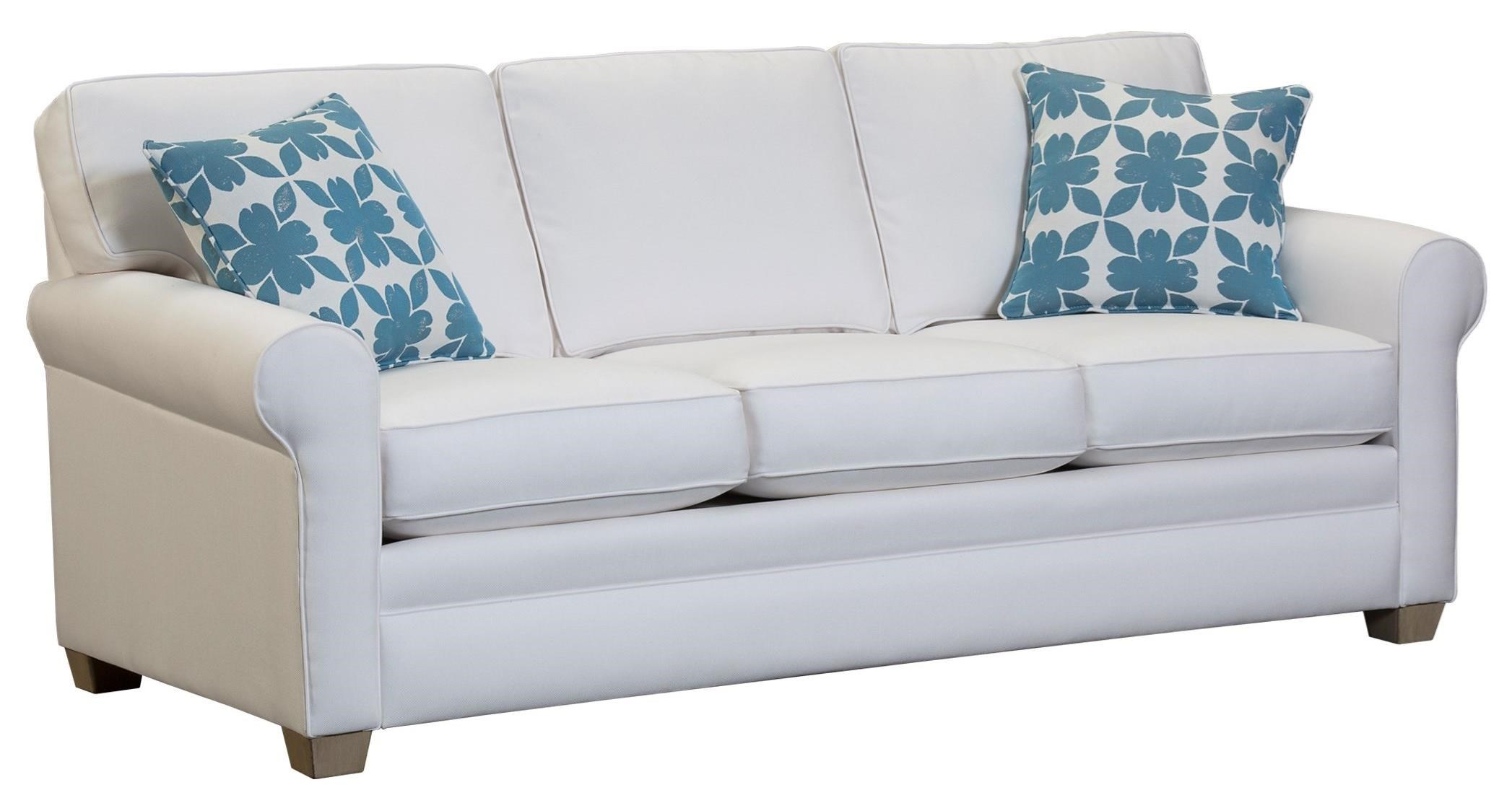 Capris Furniture 402 Casual Rolled Arm Sleeper Sofa Howell