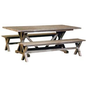 capris furniture 766 3 pc dining set