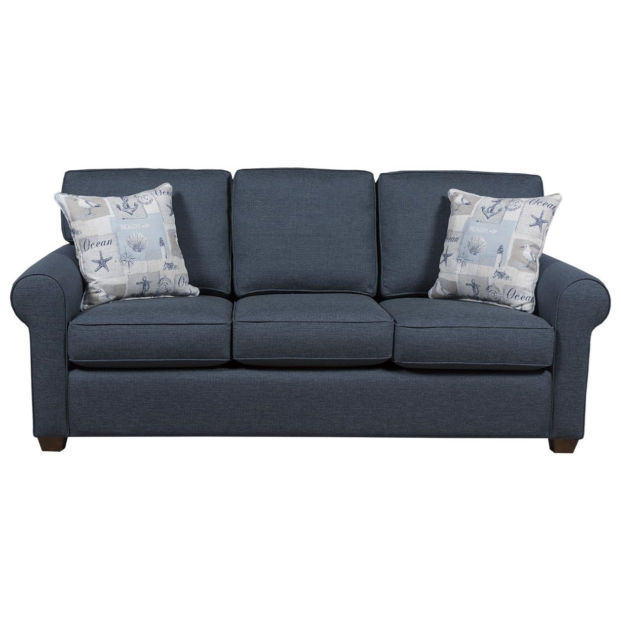 Capris Furniture 912 Casual Queen Size Sleeper Sofa Rooms For Less