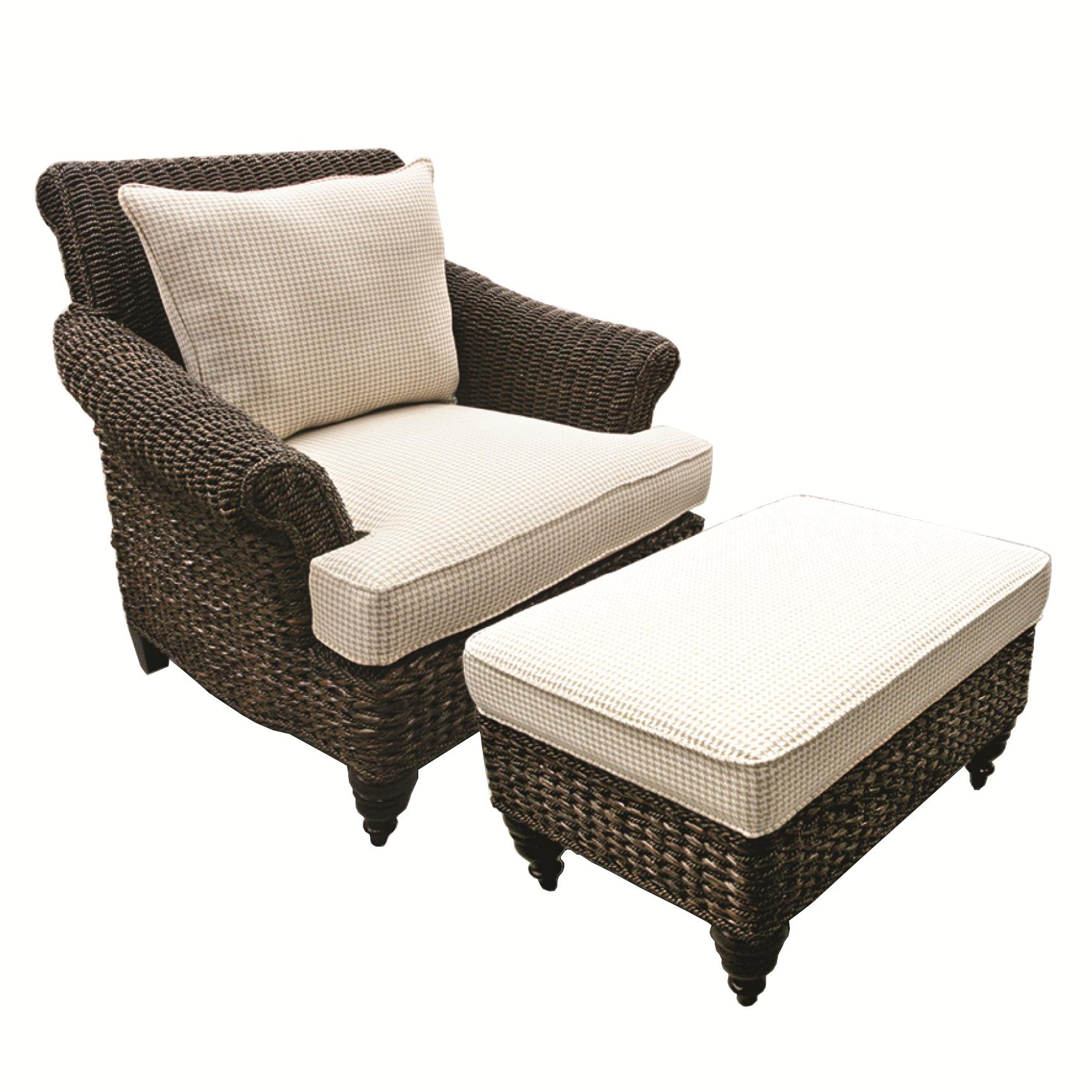 Capris Furniture Chairs And Ottomans Wicker Chair And Ottoman Set
