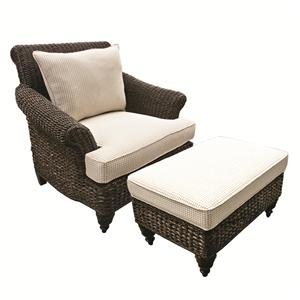 Capris Furniture Chairs And Ottomans Wicker Chair And Ottoman