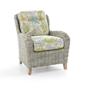 Capris Furniture Chairs and Ottomans Wicker Accent Chair