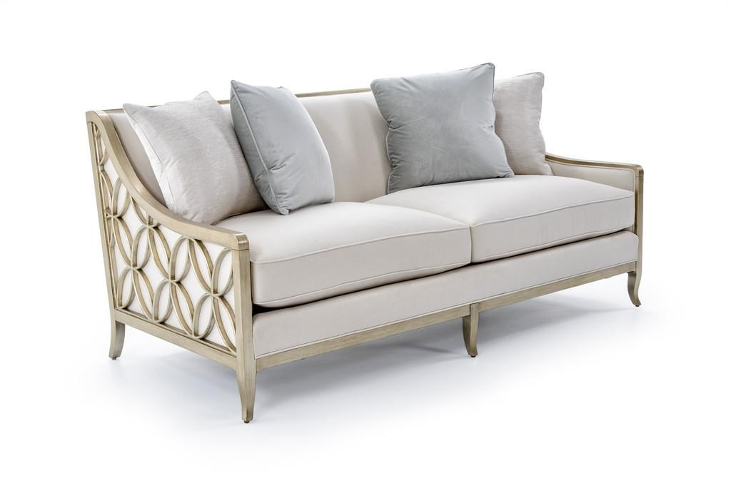 Caracole Upholstery Social Butterfly Sofa with Exposed Wood by Caracole at Baer's Furniture