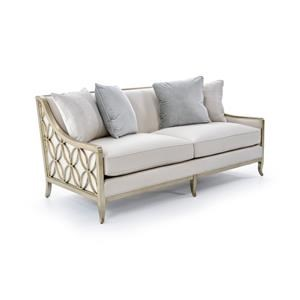 Caracole Caracole Upholstery Social Butterfly Sofa with Exposed Wood