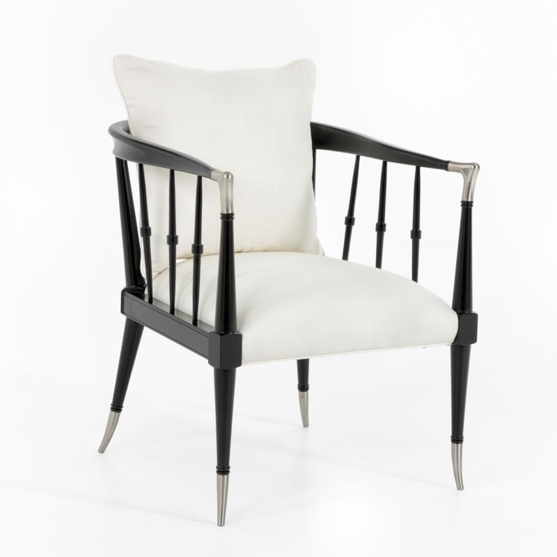 "Caracole Caracole Classic ""Black Beauty"" Chair - Item Number: Black Beauty Chair"