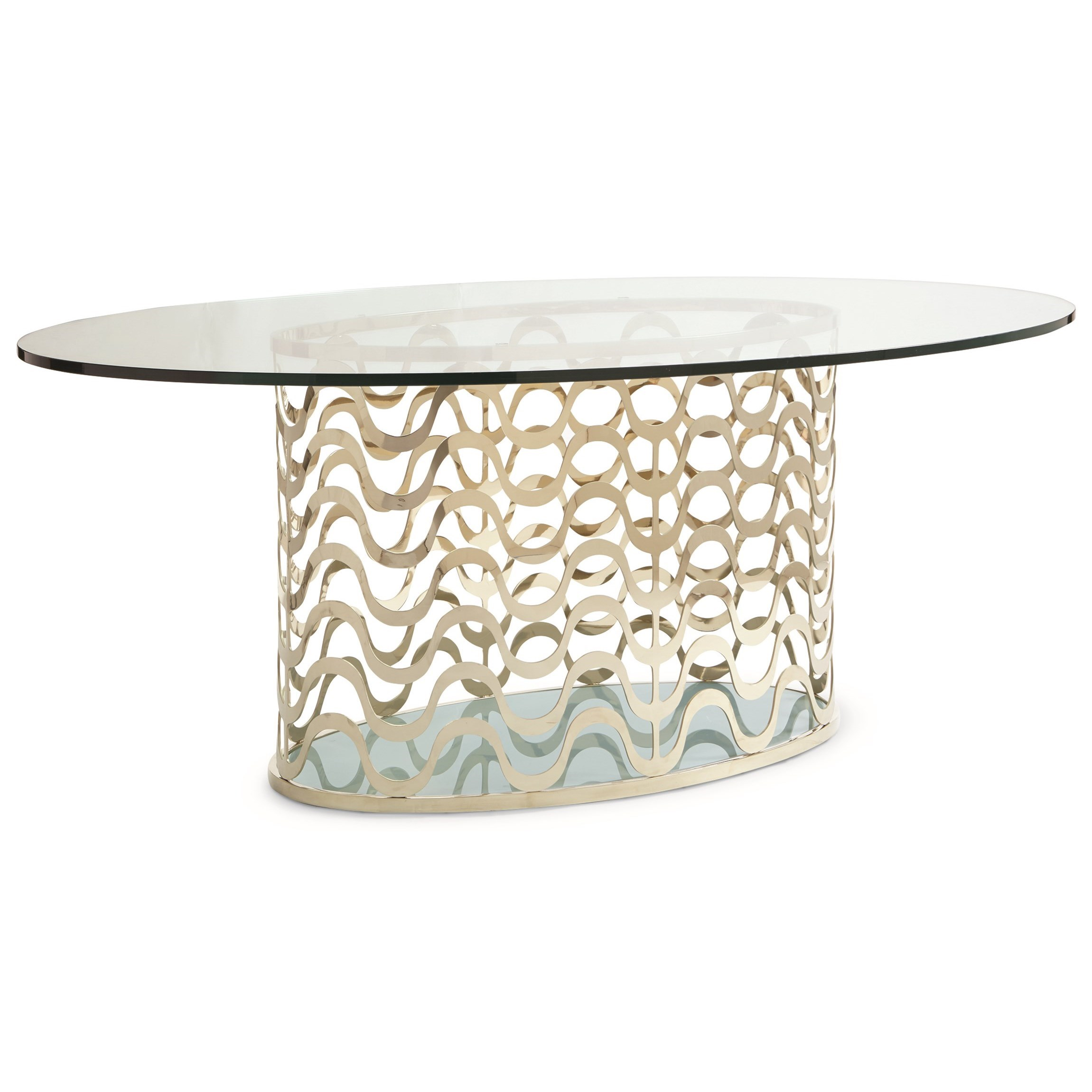 Caracole Classic Contemporary Wavelength Dining Table - Item Number: CLA-416-203