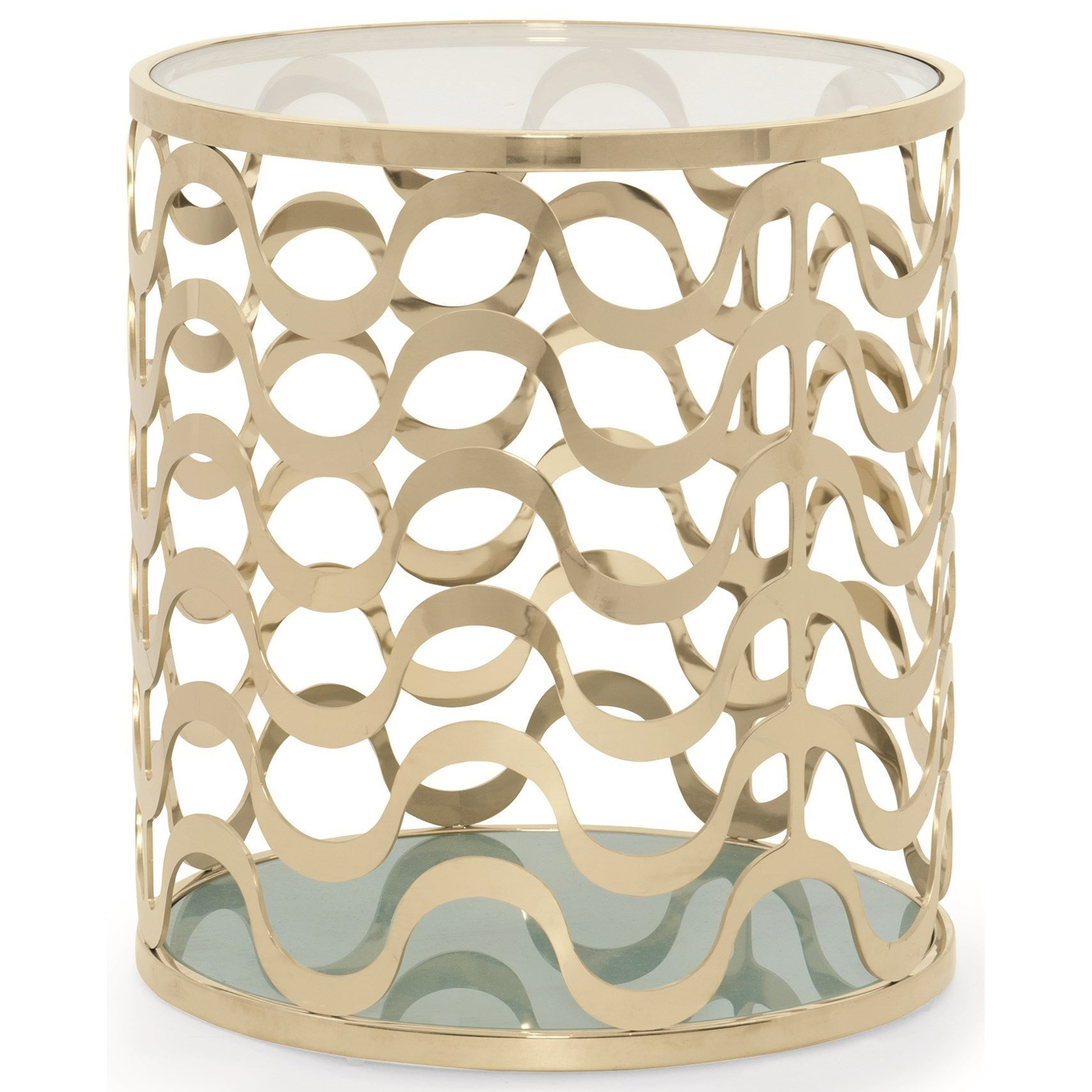Caracole Classic Contemporary Catch a Wave End Table - Item Number: CLA-416-411