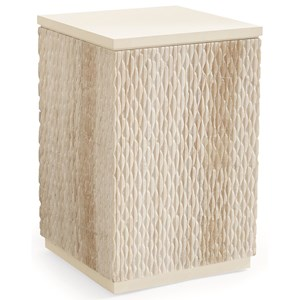 Caracole Classic Contemporary Carved in Stone End Table