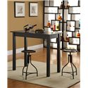 Carolina Chair and Table Counter Height Dining Rectangular Top Cafe Table - Shown with Logan Stool