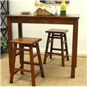 Carolina Chair and Table Counter Height Dining Pub Table - Shown with Coordinating Bar Stools