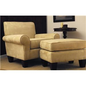 Carolina Chair and Table Oxford Upholstered Club Chair and Ottoman Set