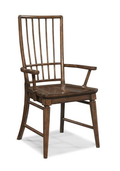 Morris Home Livingston  Livingston Cherry Rake Back Arm Chair - Item Number: 335827551