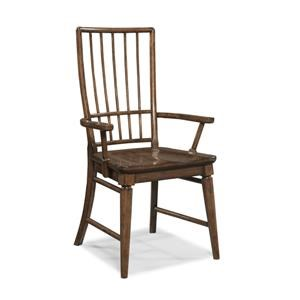 Morris Home Furnishings Livingston  Livingston Cherry Rake Back Arm Chair