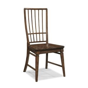 Morris Home Furnishings Livingston Livingston Cherry Rake Back Side Chair