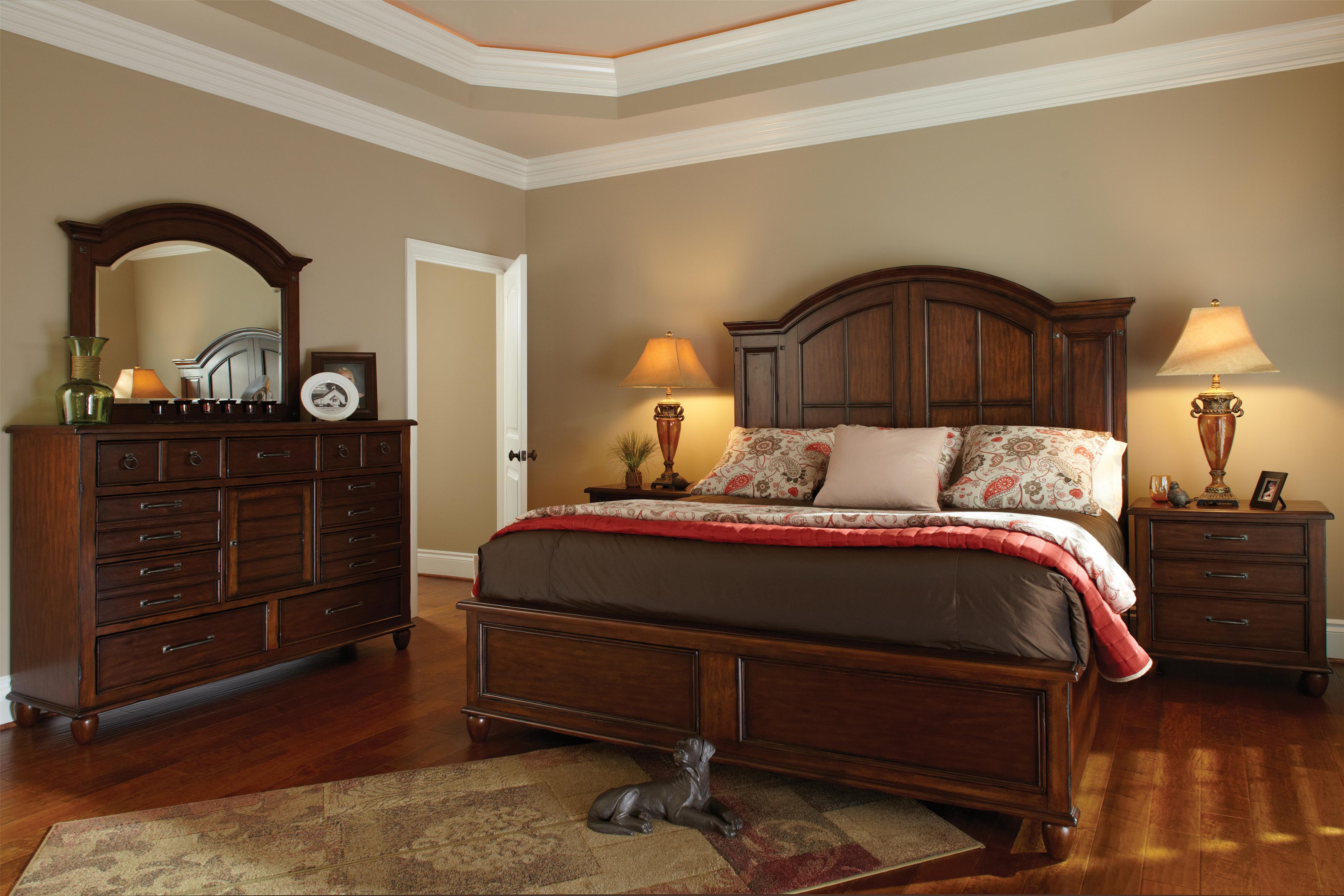 Good Carolina Preserves By Klaussner Blue Ridge King Bedroom Group   Item  Number: 426 K Bedroom