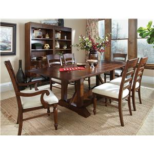 Carolina Preserves by Klaussner Blue Ridge 7 Piece Table and Chairs Set
