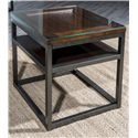 Easton Collection Blue Ridge Foothills-Cherry End Table with 1 Shelf