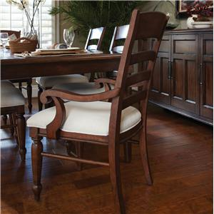 Morris Home Furnishings Livingston Livingston Cherry Ladder Back Arm Chair