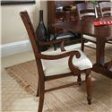 Easton Collection Blue Ridge Cherry Ladder Back Arm Chair