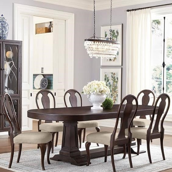 Carolina Preserves By Klaussner Charleston Lane Transitional 7 Piece Dining Set Dream Home Interiors Dining 7 Or More Piece Sets