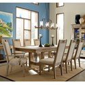 Carolina Preserves by Klaussner Reflections 9 Pc Dining Set - Item Number: 455-096+2x905+6x900