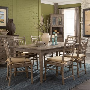 Carolina Preserves by Klaussner Riverbank 7 Pc Dining Set