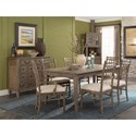 Carolina Preserves by Klaussner Riverbank Dining Room Side Chair with Upholstered Seat
