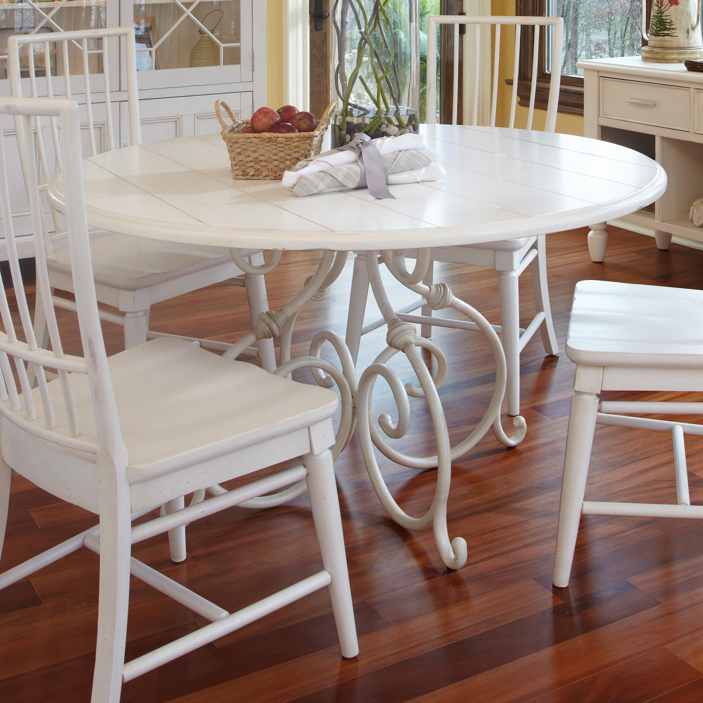 Easton Collection Sea Breeze Calabash 54'' Round White Dining Table - Item Number: 424-054 DRT