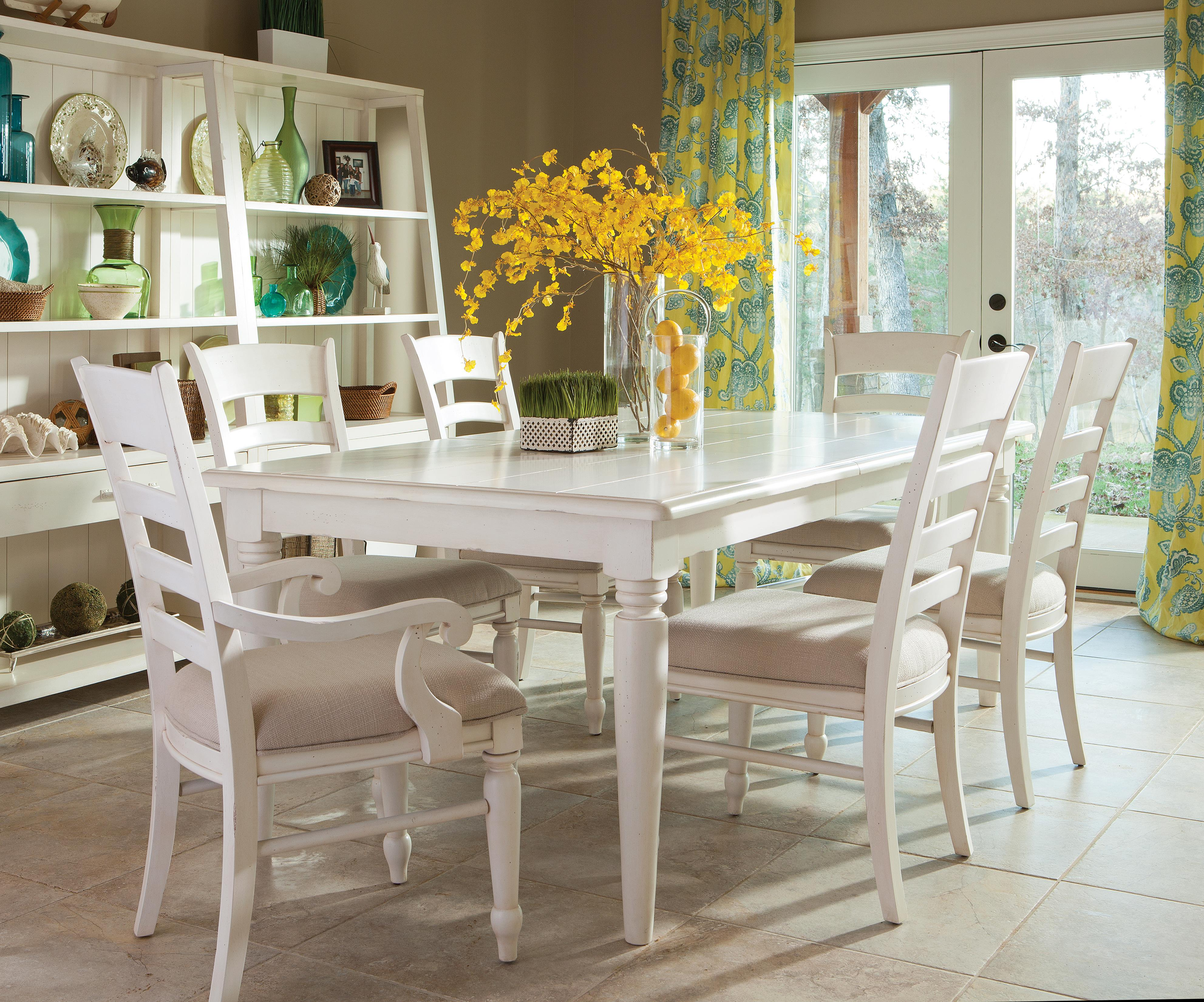 Easton Collection Sea Breeze Table and Chairs Set - Item Number: 424-084 DRT+2x906 DRC+4x901 DRC