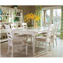 Easton Collection Sea Breeze Rectangular Table with Ladder Back Side and Arm Chair Set