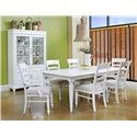 Easton Collection Sea Breeze Rectangular Table with 18 Inch Leaf