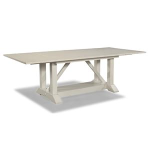 Easton Collection Sea Breeze 78'' Trestle Table