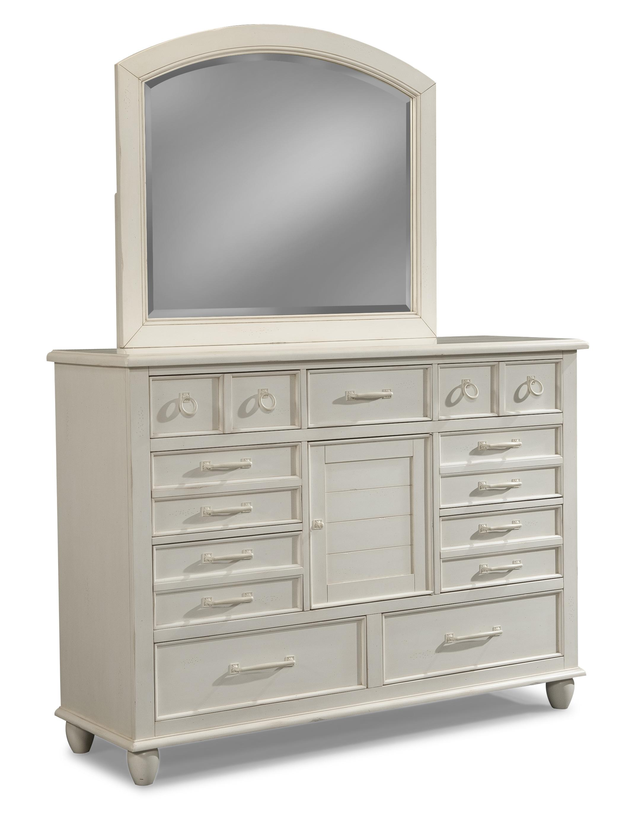 Easton Collection Sea Breeze Dresser and Mirror Set - Item Number: 424-650 DRES+660 MIRR