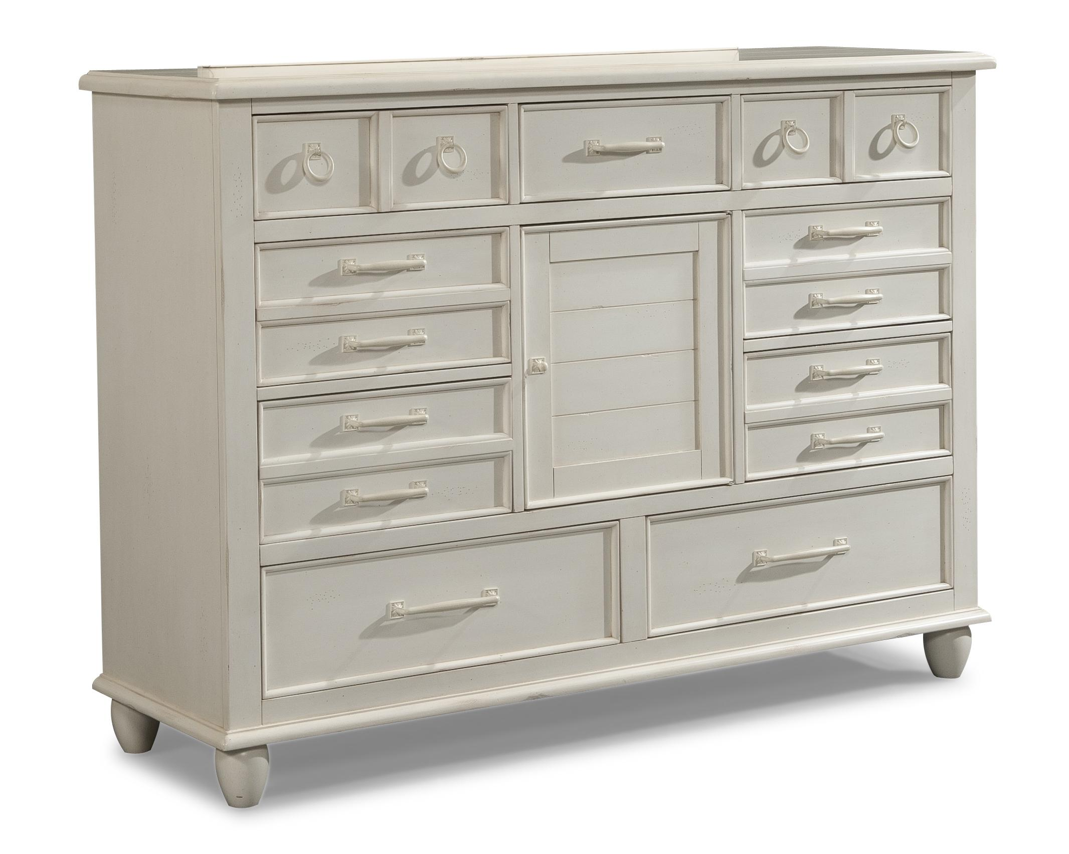 Easton Collection Sea Breeze White Dresser - Item Number: 424-650 DRES