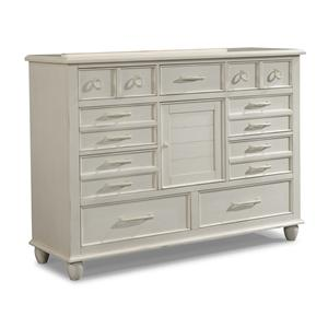 Easton Collection Sea Breeze White Dresser