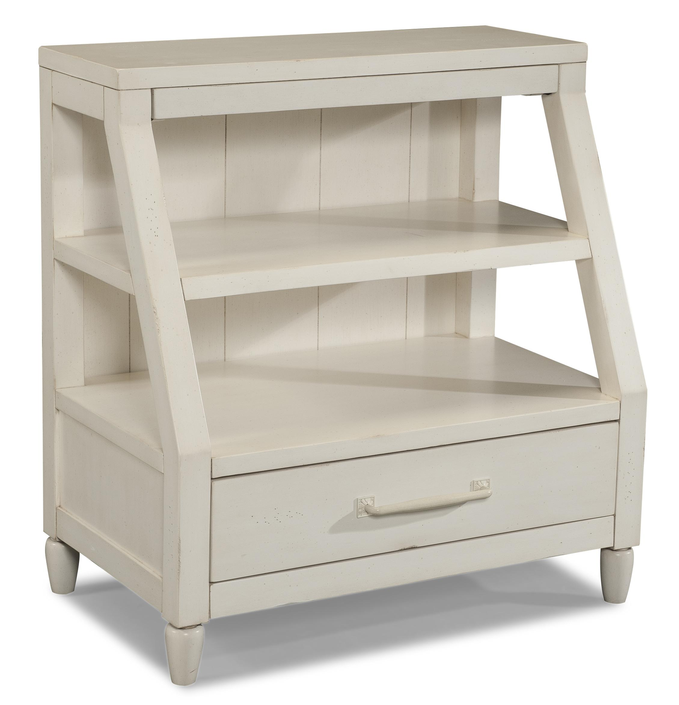 Easton Collection Sea Breeze Sweet Dreamer-White Shelf Nightstand - Item Number: 424-671 NSTD