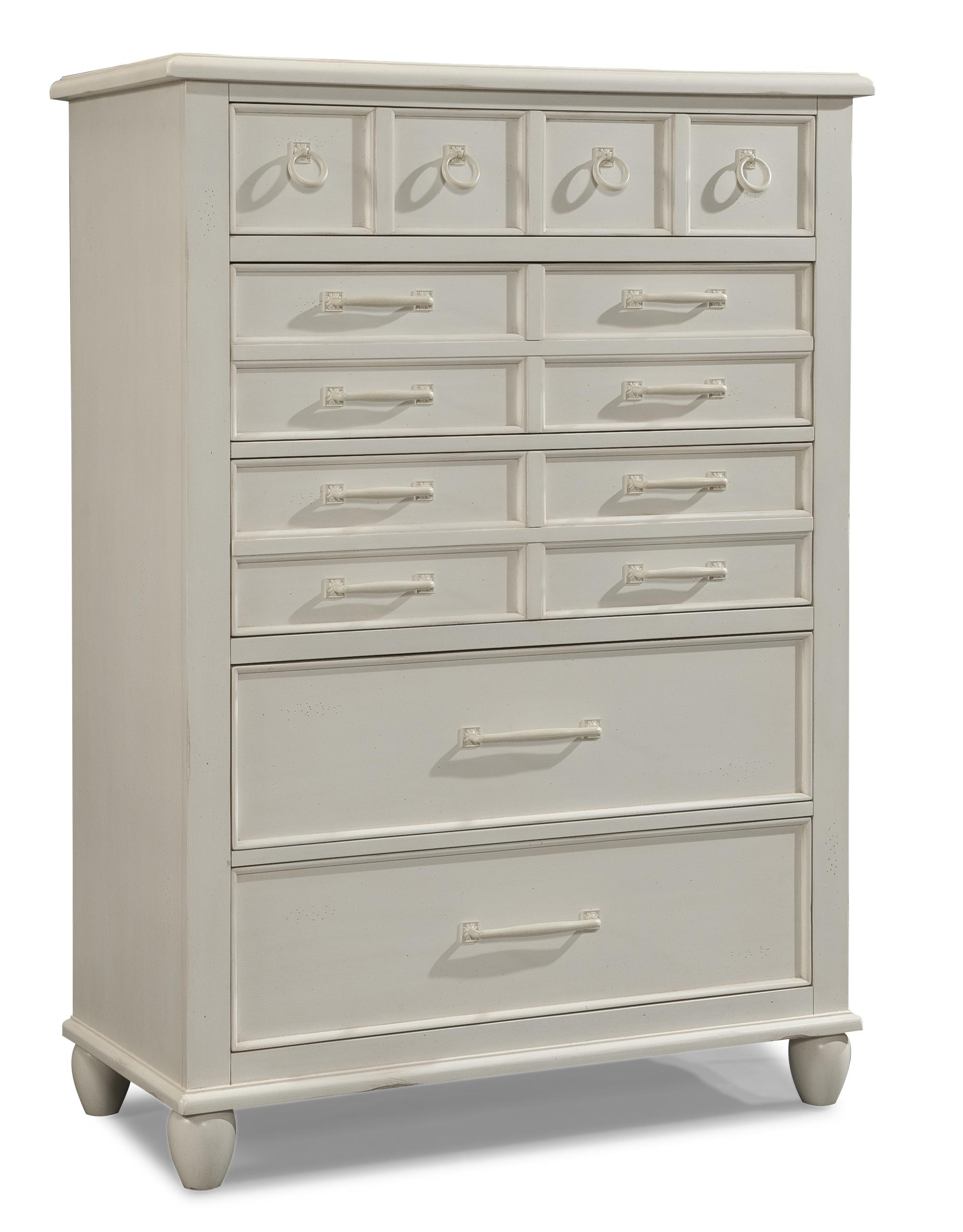 Easton Collection Sea Breeze White Drawer Chest - Item Number: 424-681 CHEST