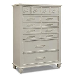 Easton Collection Sea Breeze White Drawer Chest