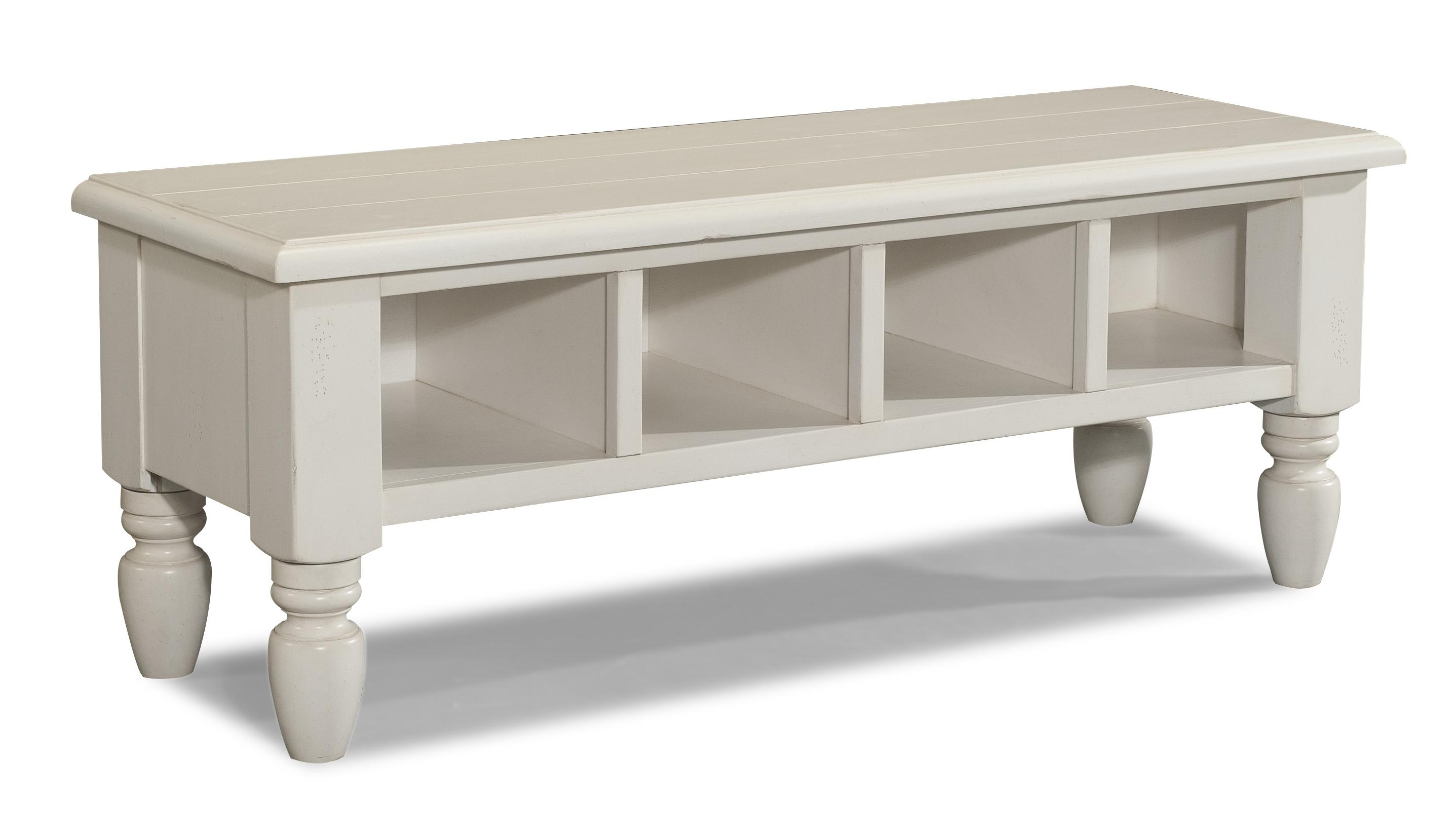 Easton Collection Sea Breeze Carolina Shores-White Wooden Bench - Item Number: 424-824 BENCH