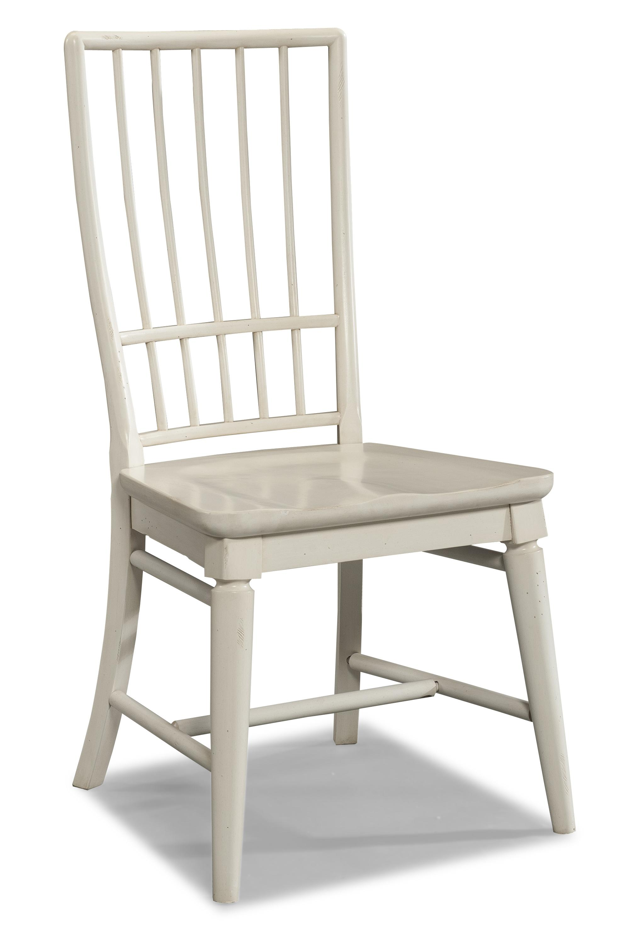 Easton Collection Sea Breeze White Rake Back Side Chair - Item Number: 424-900 DRC