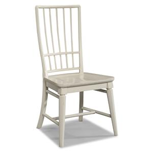 Easton Collection Sea Breeze White Rake Back Side Chair