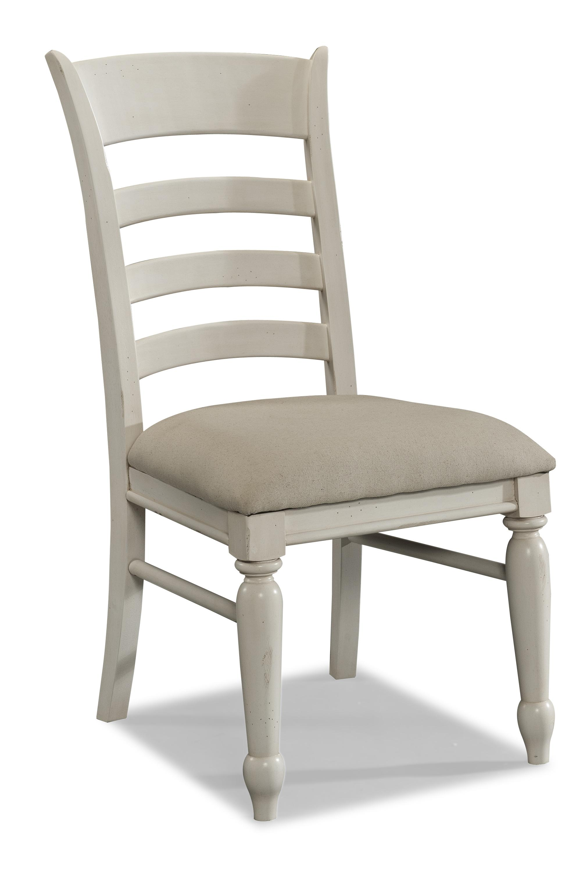 Easton Collection Sea Breeze White Ladder Back Side Chair - Item Number: 424-901 DRC