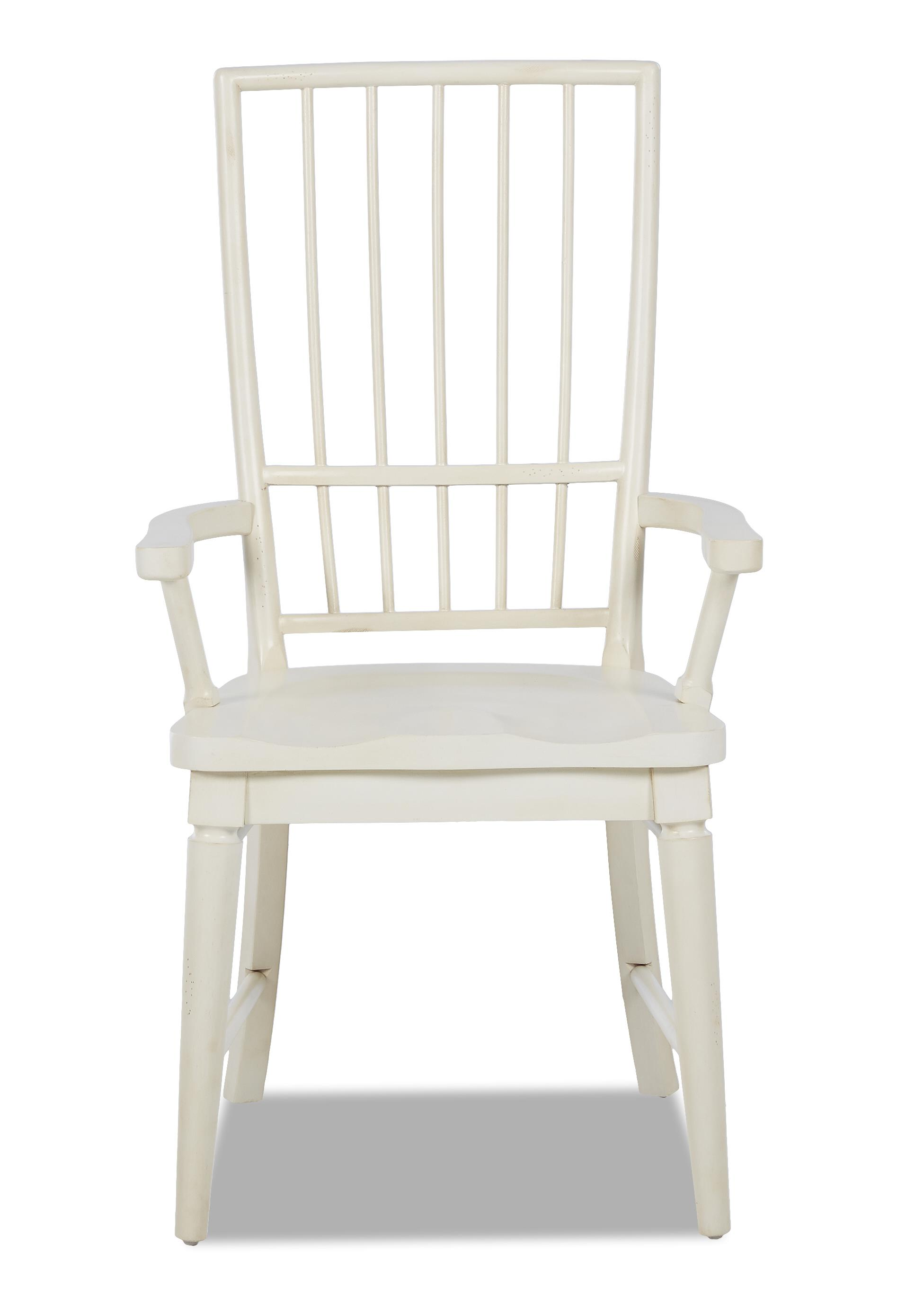 Easton Collection Sea Breeze White Rake Back Arm Chair - Item Number: 424-905 DRC